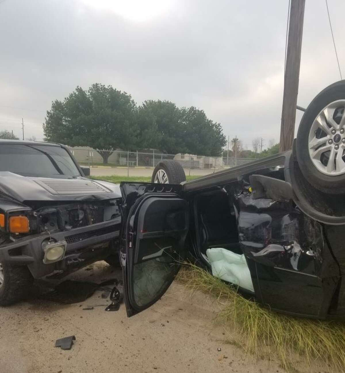Two people involved in this rollover crash were reported in stable condition. The crash occurred on Monday at the intersection of Valencia Avenue and Frost Street.