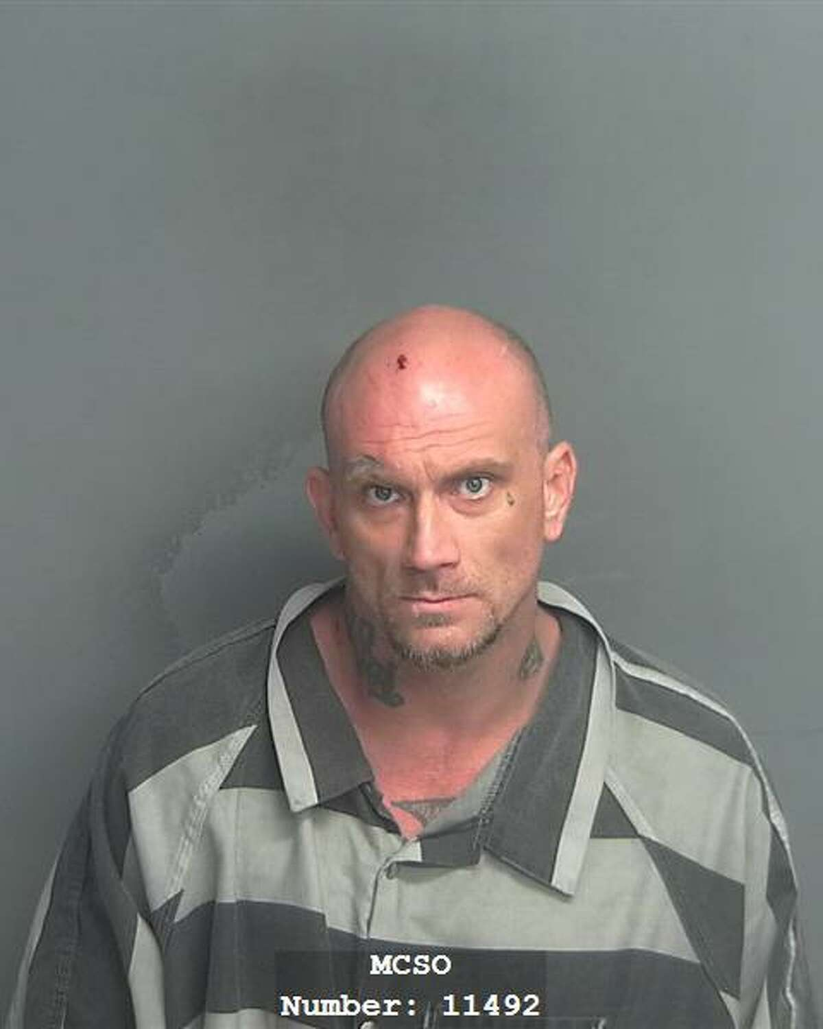Mark Steven Myers, 39, of New Caney, is being charged with felony possession of a controlled substance and felony injury to a police service animal.