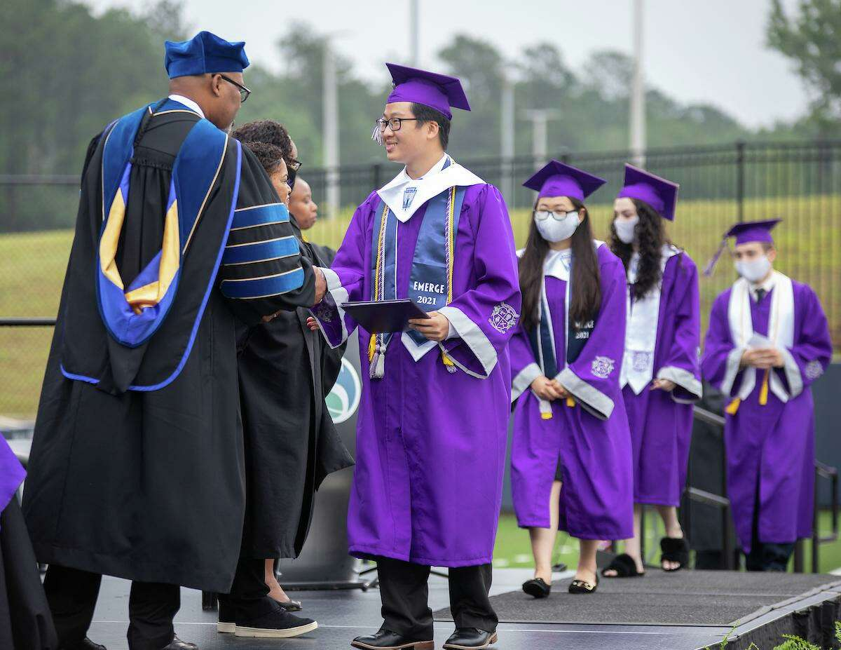 Spring Early College Academy holds graduation for the class of 2021 on Friday, June 4, at Planet Ford Stadium.