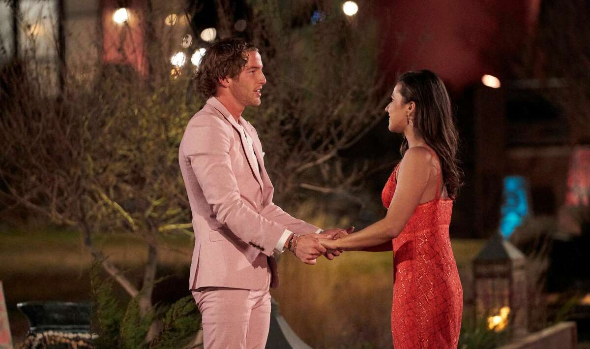 Former University of Houston basketball player Landon Goesling meets Katie Thurston on the season premiere of The Bachelorette, which aired Monday, June 7, 2021.