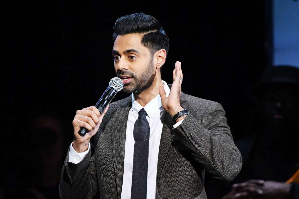 NEW YORK, NEW YORK - NOVEMBER 04: Hasan Minhaj performs onstage during the 13th annual Stand Up for Heroes to benefit the Bob Woodruff Foundation at The Hulu Theater at Madison Square Garden on November 04, 2019 in New York City. (Photo by Mike Coppola/Getty Images for The Bob Woodruff Foundation)