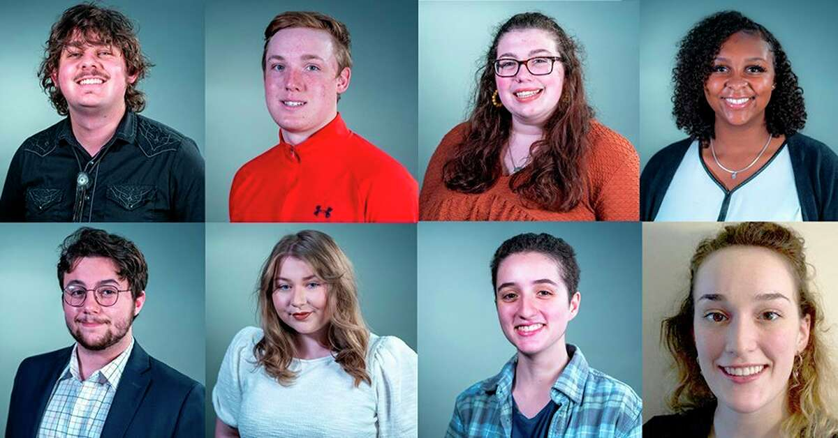 Pictured are the Summer 2021 class of Michigan News Group interns. Top row, from left are Benjamin Ackley,Christian Booher,Courtney Pedersen andGena Harris. Bottom row, from left are Michael Livingston, Riley Connell,Teresa Homsi andAurora Abraham. Abraham will be interning with the Midland Daily News this summer. (Photo provided)