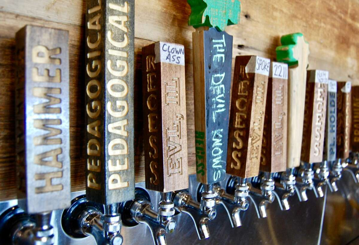 Of the variety of beers on tap at Recess Brewery, their lager and IPA, are offered year-round.