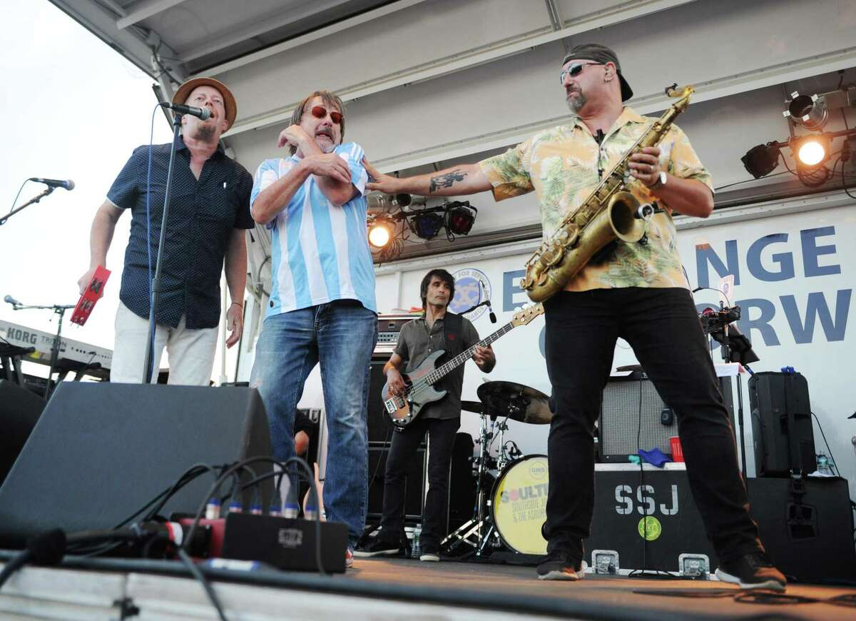 Blues-rockers Southside Johnny and the Asbury Jukes perform at the Norwalk Independence Day fireworks celebration at Calf Pasture Beach in Norwalk, Conn. Monday, July 3, 2017. In addition to the colorful fireworks display, the program included a kids magic and music show by The Amazing Andy, a DJ set from DJ Nuzzo, and music from blues-rockers Southside Johnny and the Asbury Jukes.