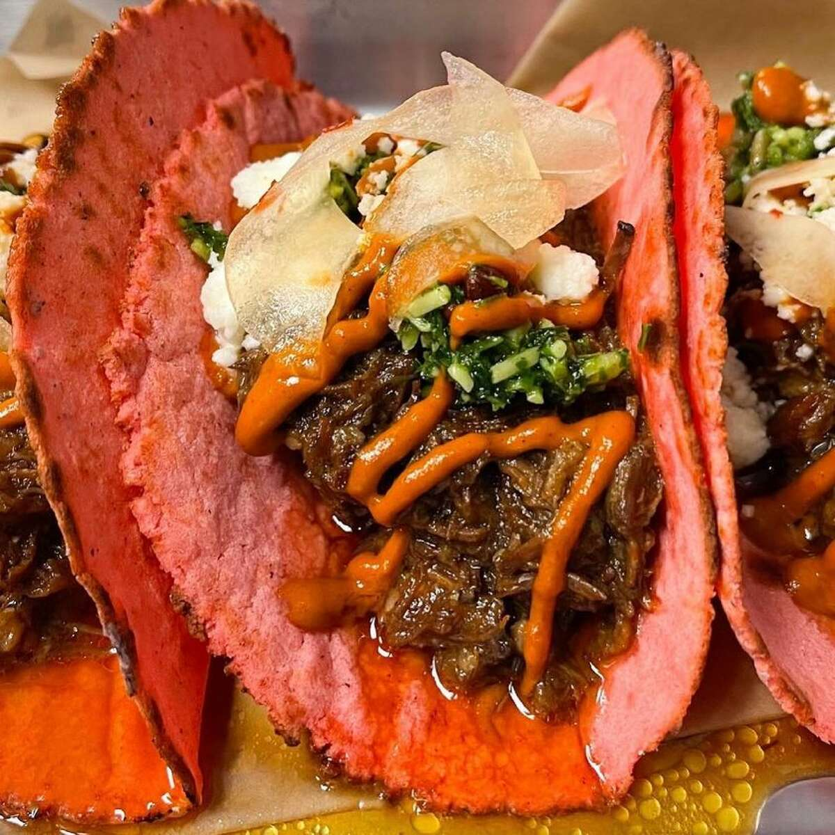 Barbacoa tacos and Big Red are a San Antonio staple, but rolling out masa infused with the soda and topping the meat with a strawberry jam, flavorful pesto, salsa and pickled watermelon rind might be something local foodies have never tried before.