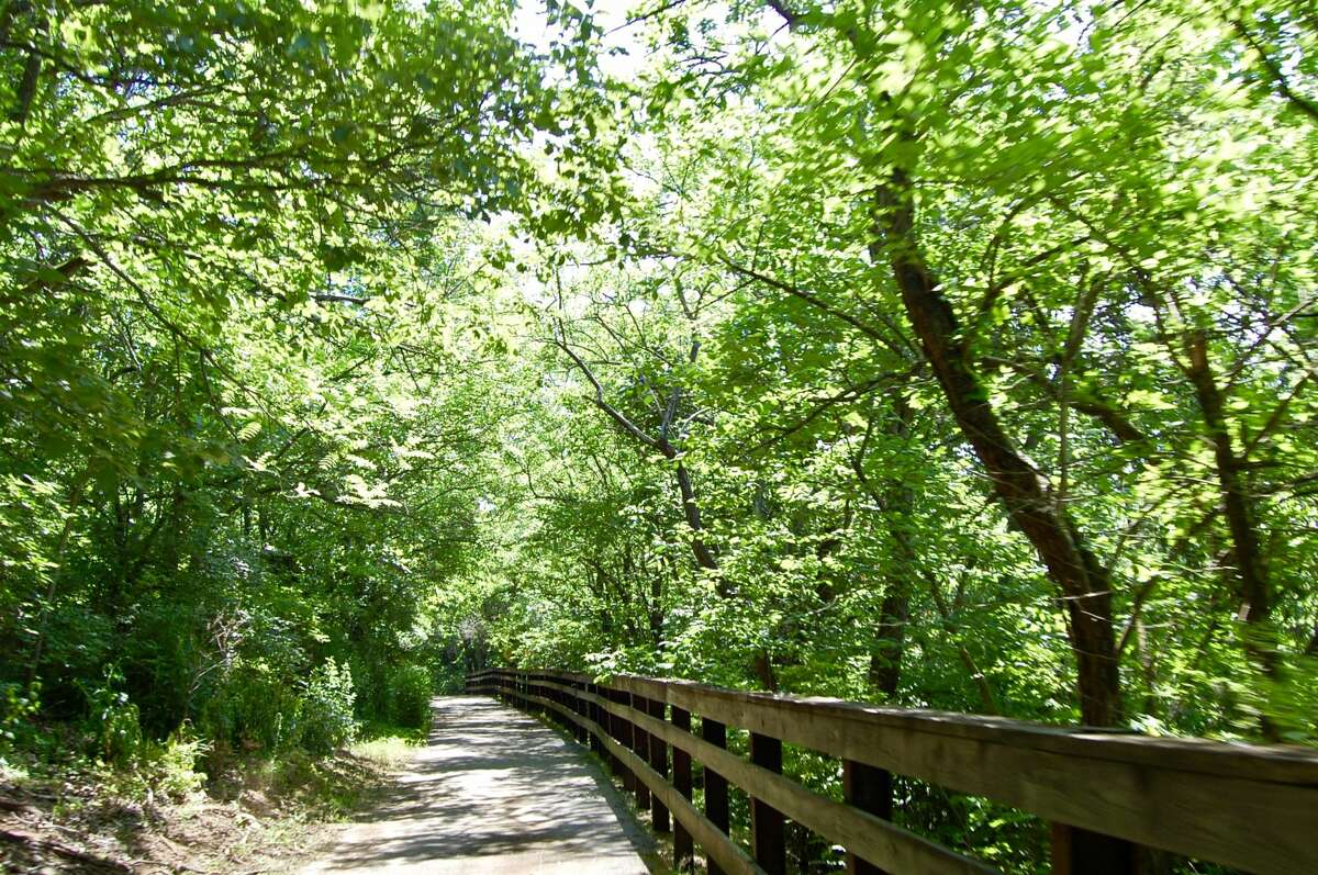 The trails of Pere Marquette take you deep into the woods of the river bluffs.
