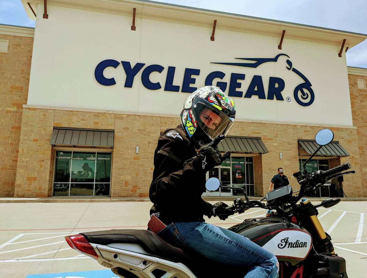 """Tik-Tok influencer and motorcycle enthusiast Bisous Suzuki spoke at the event. """"I want to raise awareness of motorcycles on the road,"""" she said. """"Other vehicles could be more aware of us; we are literally the smallest ones on the highway."""""""