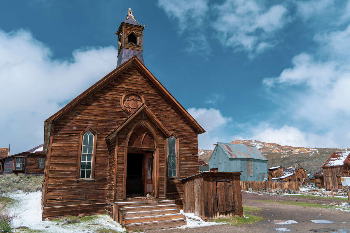 The Methodist church, built in 1882, is the only church still standing in Bodie.