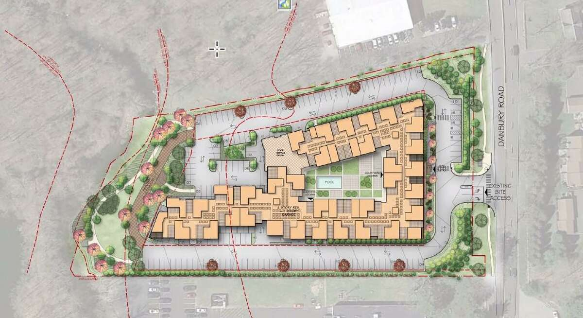 A proposal at 141 Danbury Road in Wilton would be the largest residential building in town, initially estimated to have over 170 units.