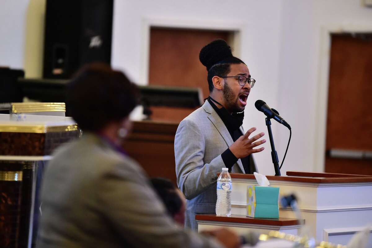 Jalen McKee-Rodriguez, seen here in a District 2 debate, is one of four new progressives elected to the City Council. San Antonio voters got it right when they chose new progressives, Courage.
