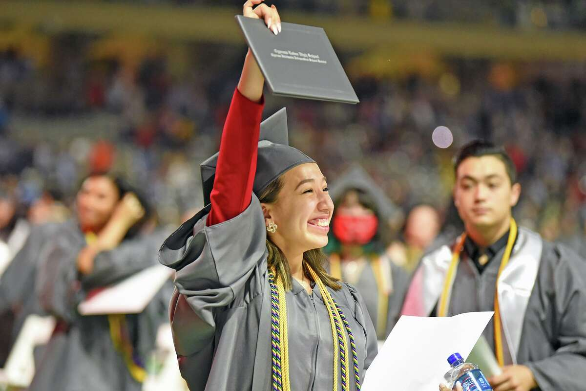 Cypress Lakes High School holds graduation for the Class of 2021 on May 29 at Cy-Fair FCU Stadium.