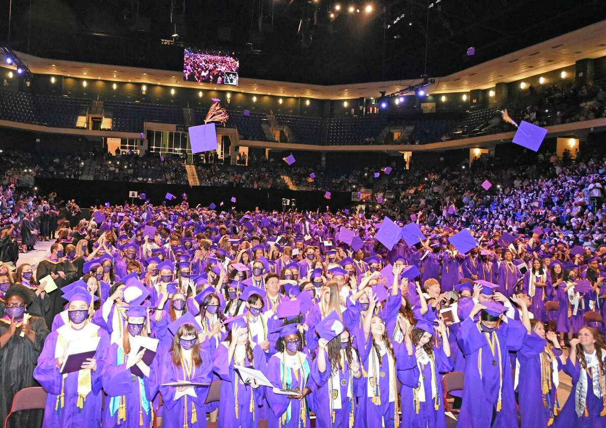 Jersey Village High School holds graduation for the Class of 2021 on June 2 in the Berry Center arena.