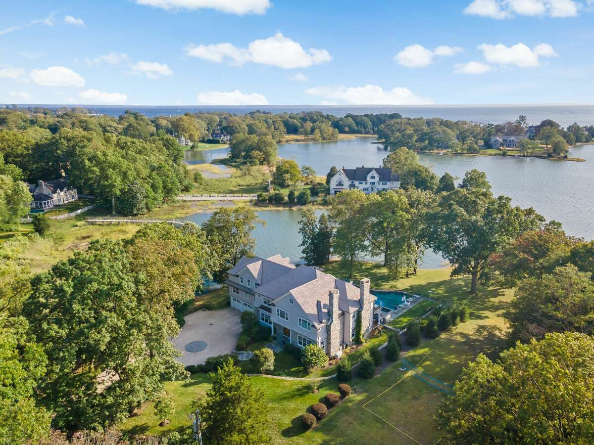 The house at 10 Nickerson Lane in Darien is on the market for $6,400,000.