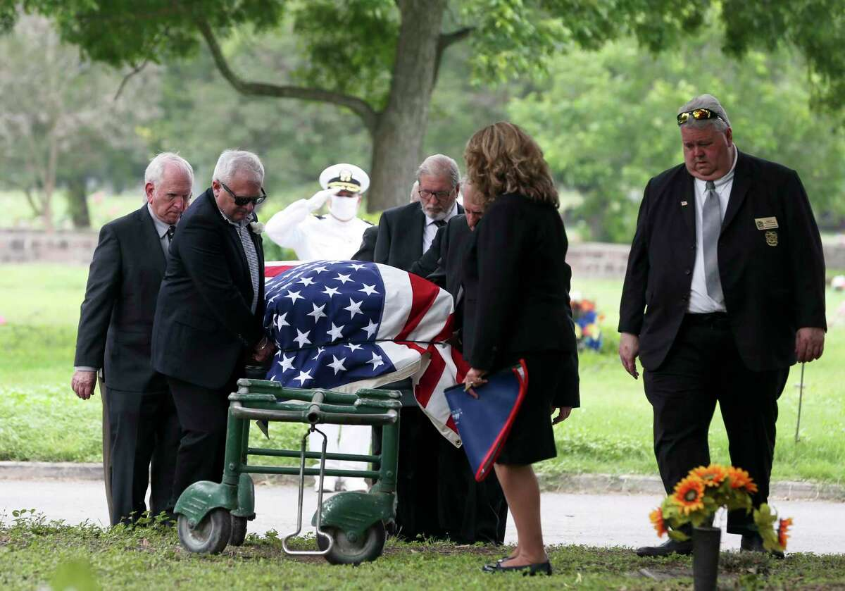 Services for William St. John, one of the last three Pearl Harbor survivors in San Antonio, were held Tuesday at Mission Park South Cemetery. St. John, 99, was a Navy radioman 1st class who survived a strafing during the battle.