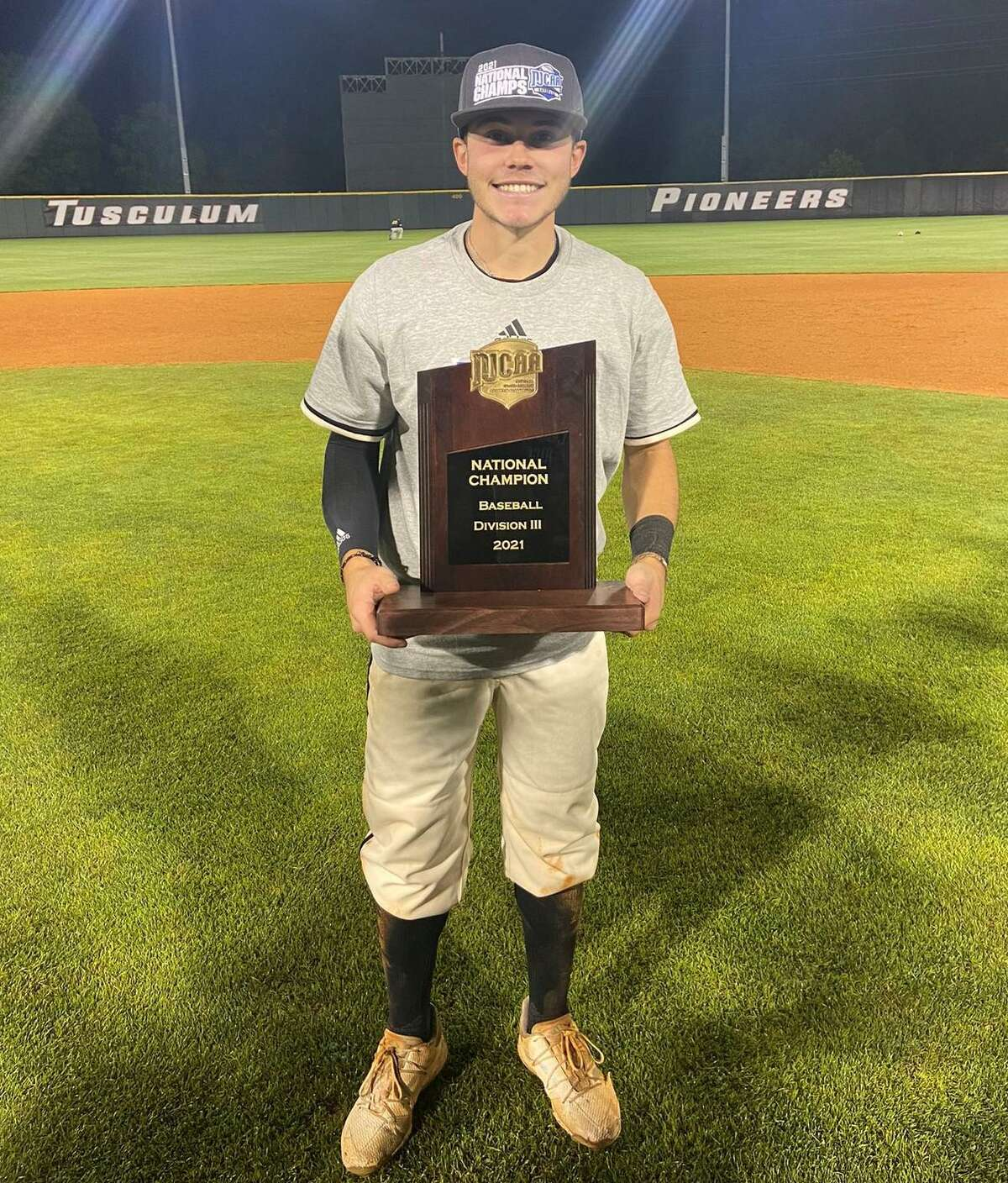 Conroe grad Tyler Linneweber won the NJCAA Division III baseball championship playing for Tyler Junior College in Greenville, Tennessee on June 2, 2021.