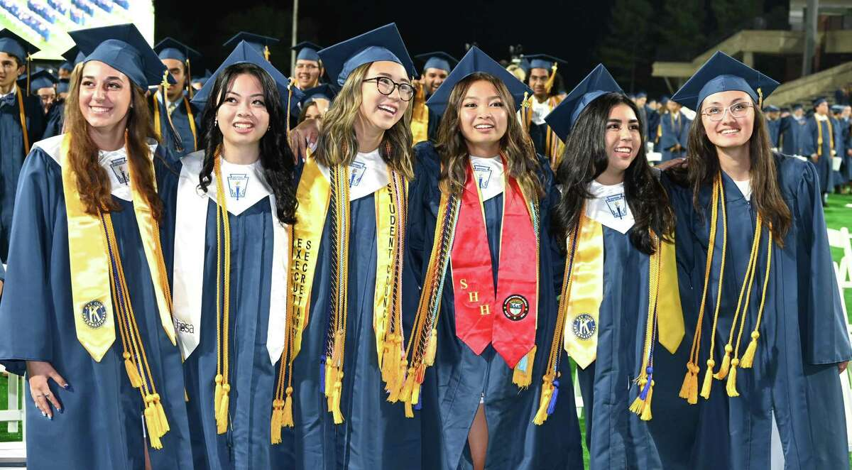 Cypress Ranch High School holds graduation for the Class of 2021 on May 30 at Cy-Fair FCU Stadium