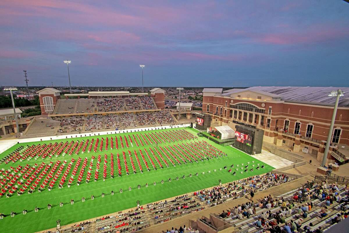 Cypress Woods High School holds graduation for the Class of 2021 on June 1 at Cy-Fair FCU Stadium.