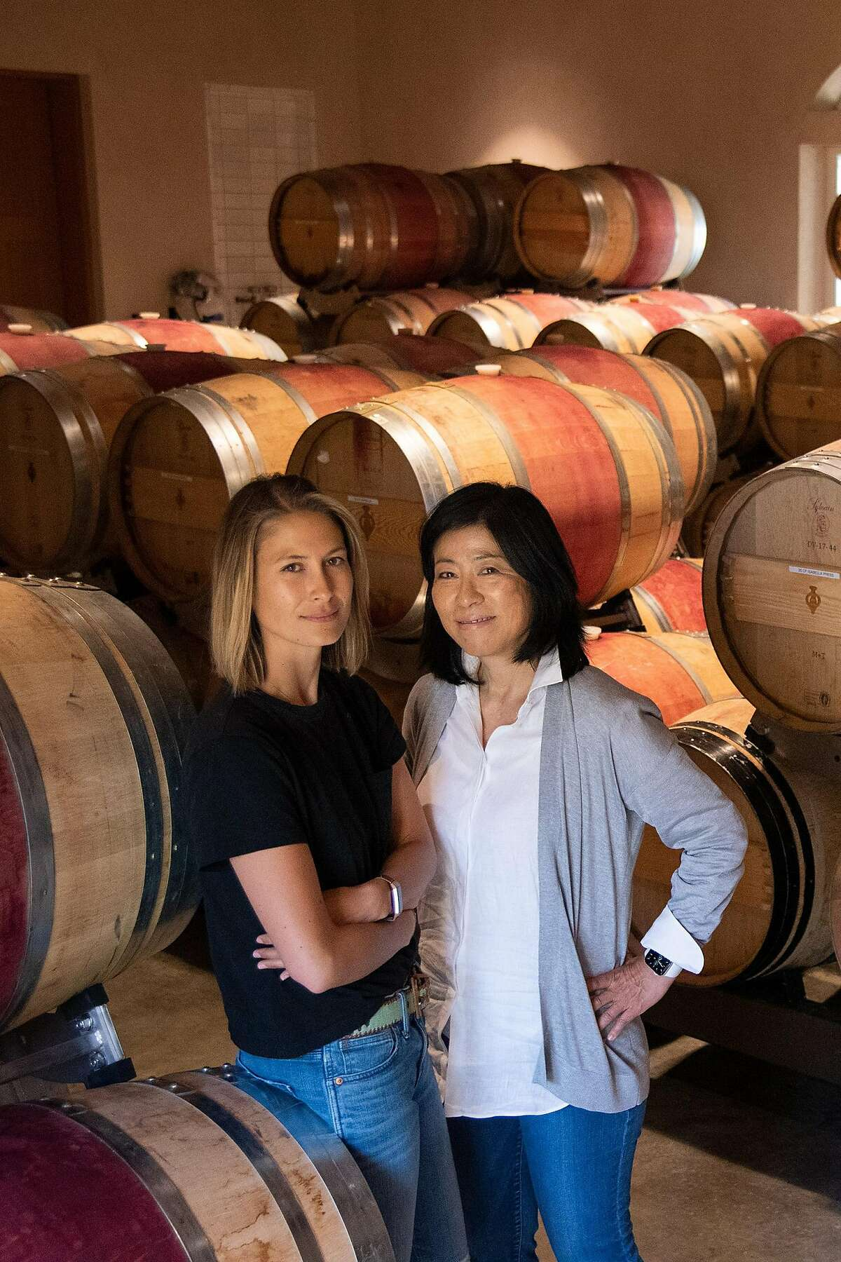 Winery proprietor Naoko Dalla Valle, right, recently promoted her daughter Maya to the position of head winemaker.