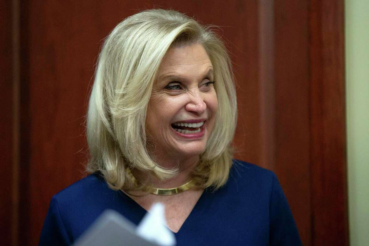 Rep. Carolyn Maloney, D-N.Y., during a news conference at the U.S. Capitol in Washington, D.C., on Jan. 27, 2020. (Stefani Reynolds/CNP/Zuma Press/TNS)