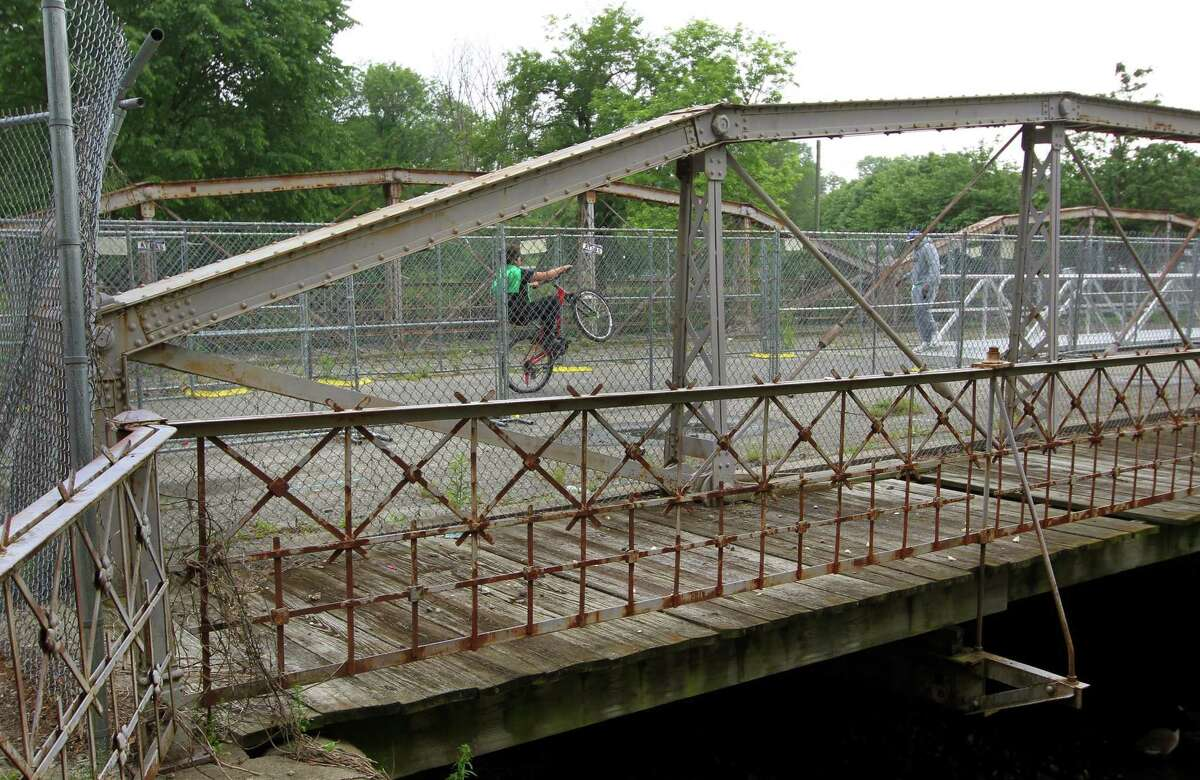A view of the West Main Street Bridge in Stamford, Conn., on Thursday June 3, 2021.