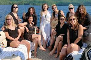 Bachelorette parties like this one on Lake George Island Boat Tours are popular this summer as people stay close to home for such events.