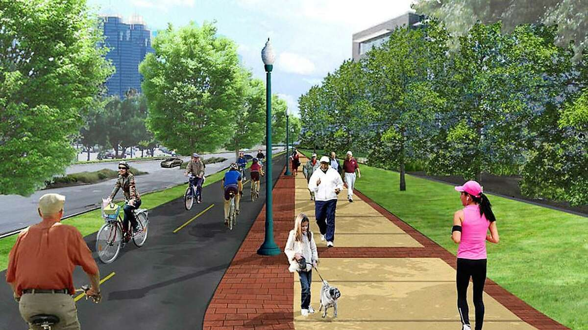 An artist's rendering shows what the Deer Park hike and bike trails could look like.