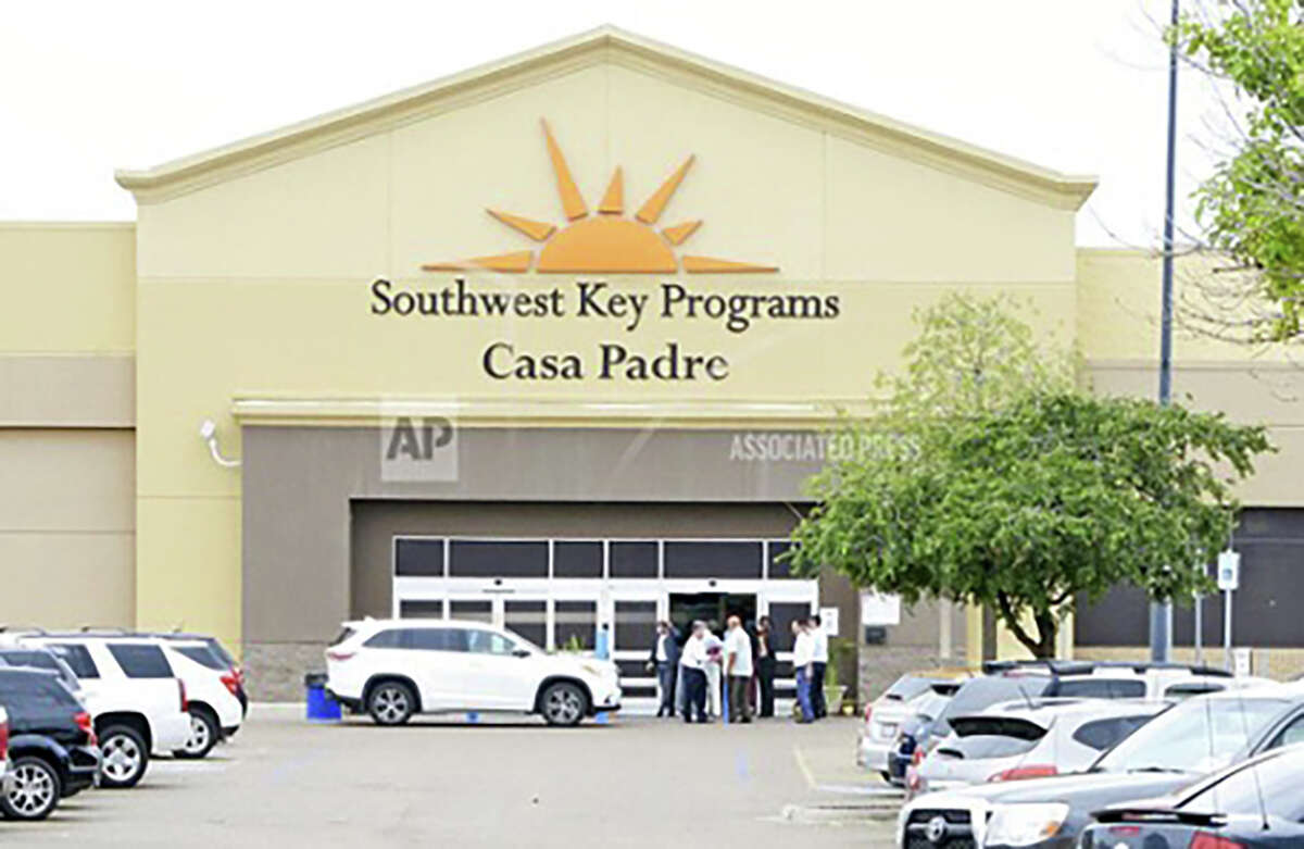 A number of migrant children's shelters run by Southwest Key Programs - including Casa Padre in Brownsville, Texas, shown in 2018 - have turned to police over children's behavior.