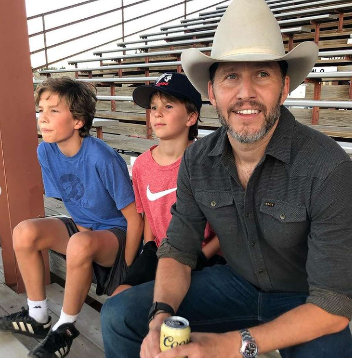 Fox News co-host Will Cain and his two sons.