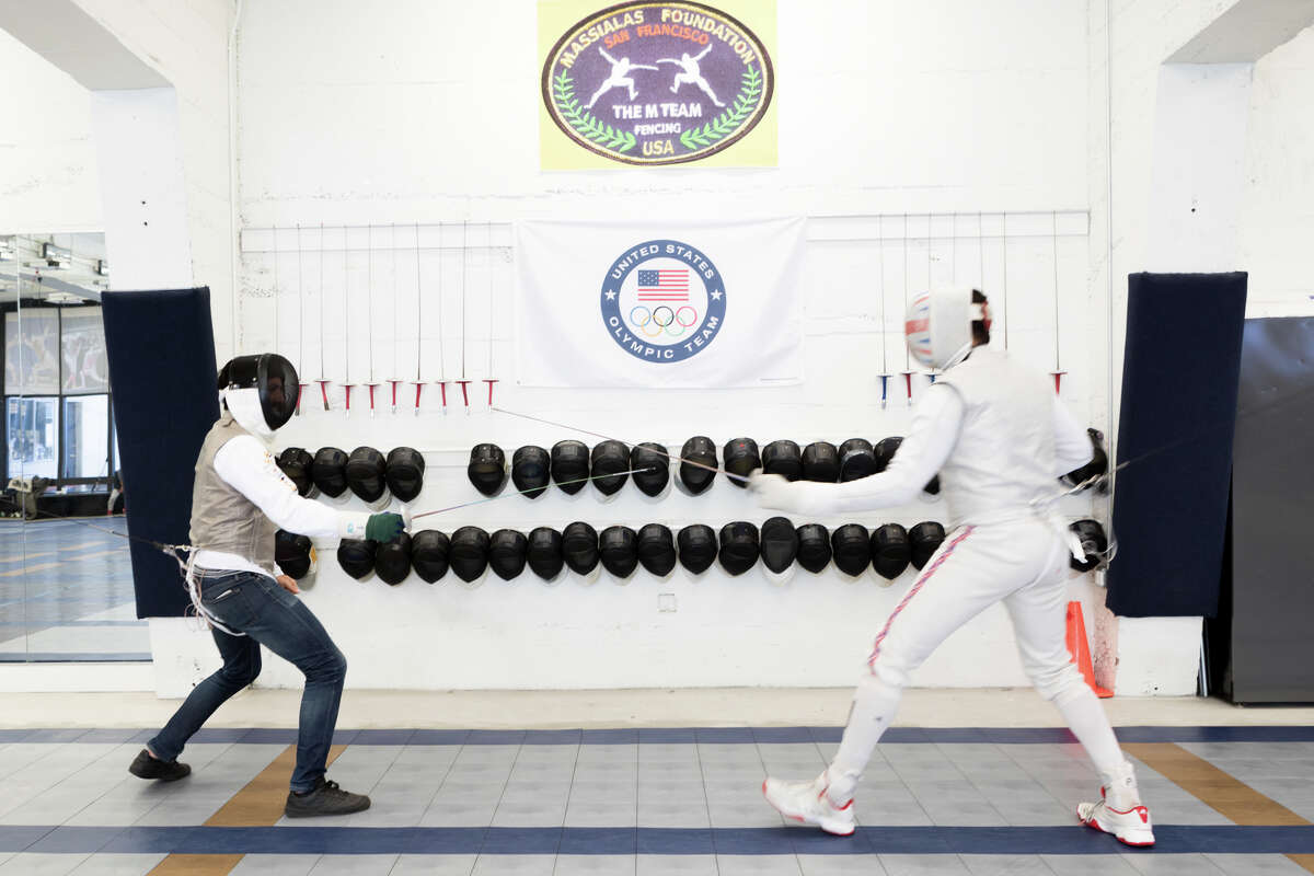 SFGATE culture editor Dan Gentile squares off against former Olympic fencer James-Andrew Davis.