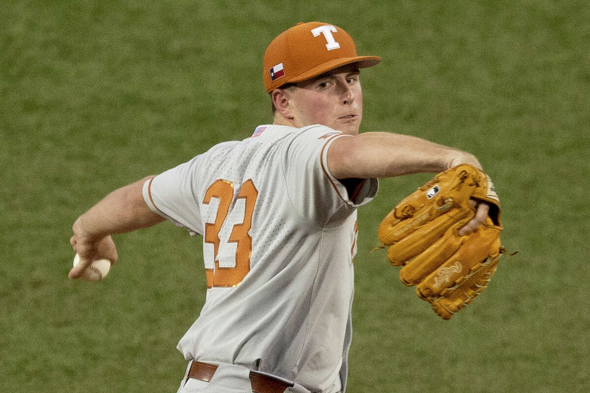 Freshman Pete Hansen is among the starting pitching riches Texas possesses as it hosts South Florida in a super regional this weekend in Austin.