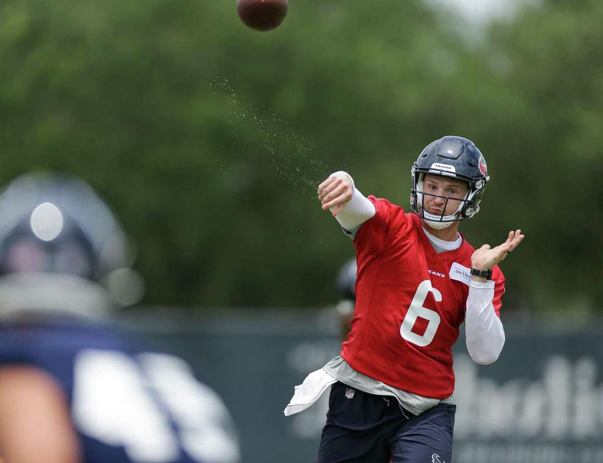 Jeff Driskel is the third quarterback on the Texans roster for offseason workouts.