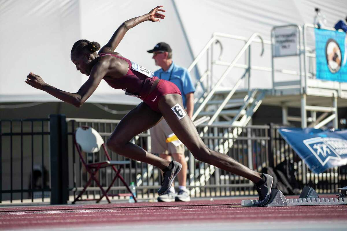 Athing Mu, whose outdoor time of 49.68 seconds in the 400 meters is a collegiate record, will compete in the event at this week's NCAA championships.
