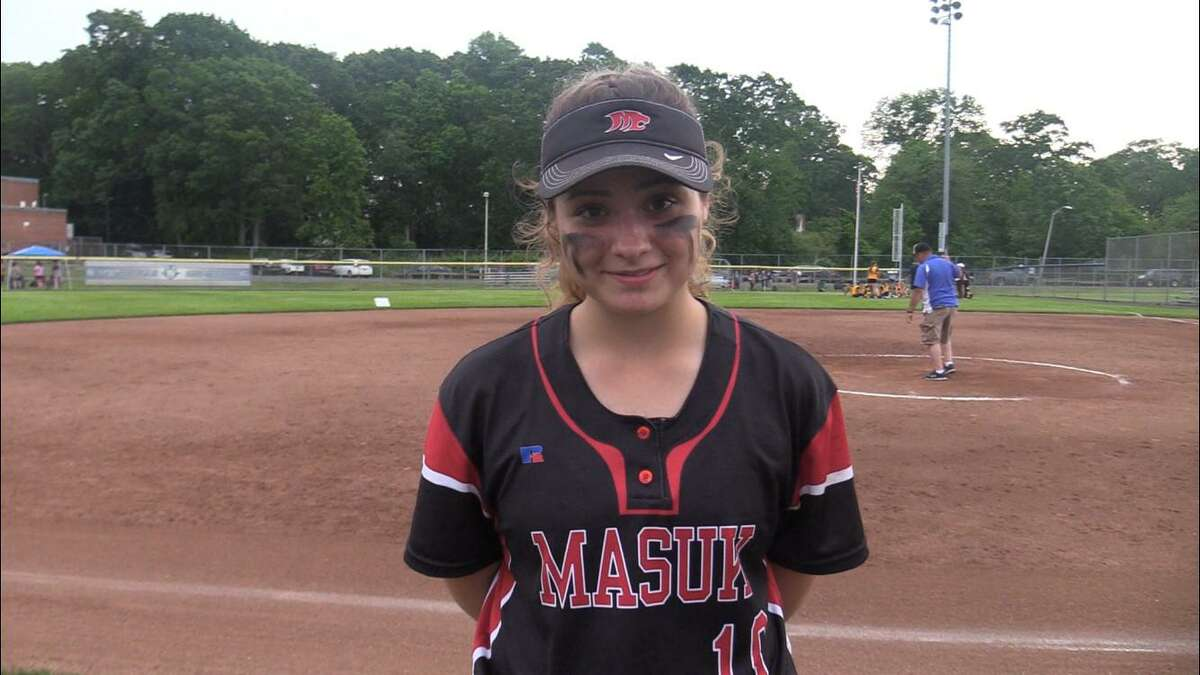 Mask senior Kaitlyn Welch after the top-seeded Panthers beat No. 5 East Haven 4-0 in the Class L softball semifinals on Tuesday, May 8, 2021 in West Haven, Conn.