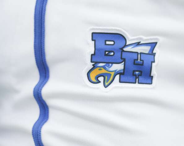 Detail of the Barbers Hill logo on the pants of the school's softball team in the third inning of a Class 5A UIL state semifinal game at Leander High School, Friday, June 4, 2021, in Leander. Photo: Jason Fochtman/Staff Photographer / 2021 © Houston Chronicle