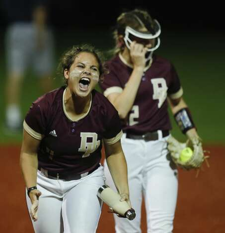 Hanna York #4 of Deer Park celebrates after the teamÕs 2-0 win over Flower Mound in their Class 6A state semifinal game, Friday, June 4, 2021, in Leander. Photo: Jason Fochtman/Staff Photographer / 2021 ? Houston Chronicle