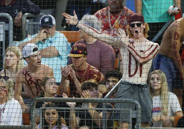 A Deer Park fan cheers in the third inning of the Class 6A UIL state championship game at Red & Charline McCombs Field, Saturday, June 5, 2021, in Austin. Photo: Jason Fochtman/Staff Photographer / 2021 © Houston Chronicle
