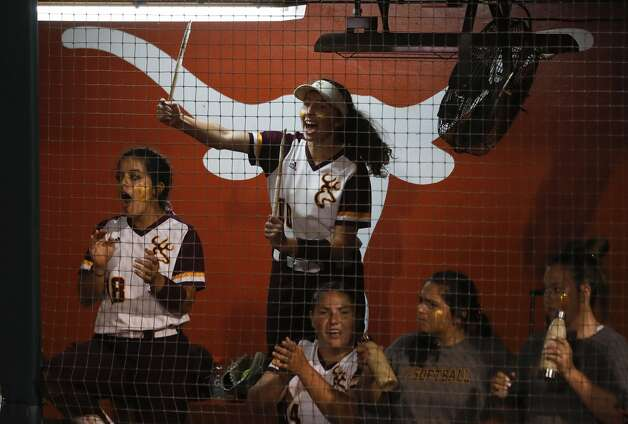 Lindsey McKnight #10 of Deer Park cheers in the fourth inning of the Class 6A UIL state championship game at Red & Charline McCombs Field, Saturday, June 5, 2021, in Austin. Photo: Jason Fochtman/Staff Photographer / 2021 © Houston Chronicle