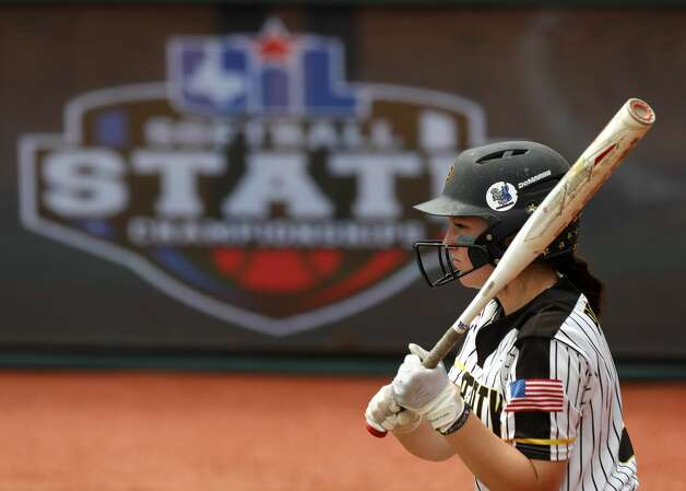 Jaylen Prichard #2 of Liberty wait to bat in the first inning of the Class 4A UIL state championship game at Red & Charline McCombs Field, Saturday, June 5, 2021, in Austin. Photo: Jason Fochtman/Staff Photographer / 2021 ? Houston Chronicle