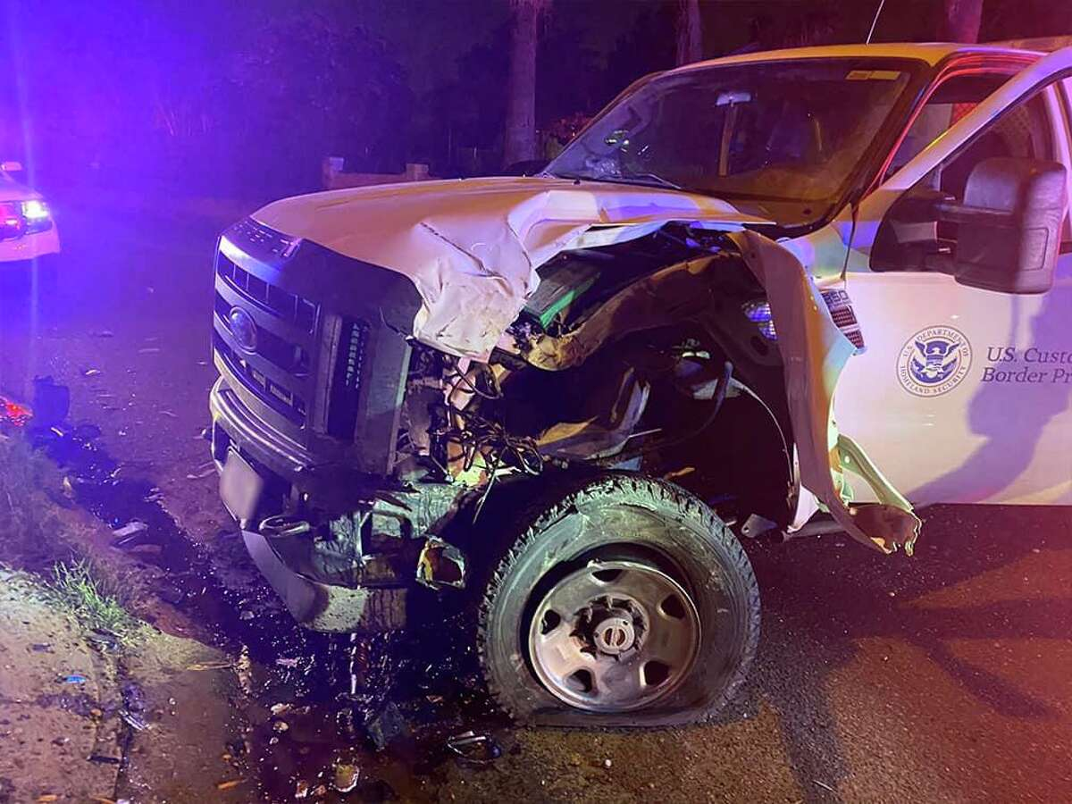 This U.S. Border Patrol unit was transporting migrants when it was involved in a crash.