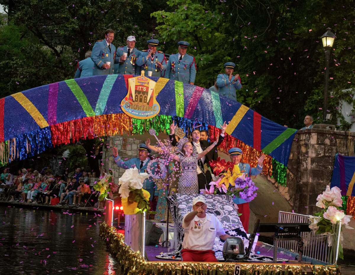 The Order of the Alamo during the 2019 Texas Cavaliers River Parade. The parade returns for Fiesta 2021.