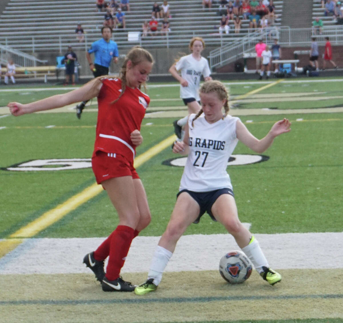 On Tuesday night in Comstock Park, the Big Rapids girls soccer team defeated Tawas 3-0 to advance to the Regional final.