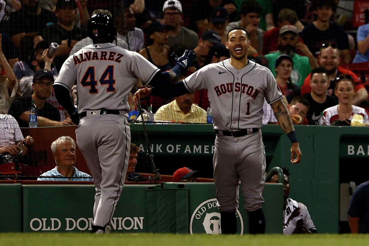Whether it's a Yordan Alvarez homer Tuesday night or his own hot stretch at the plate, Carlos Correa has had a lot to celebrate of late.