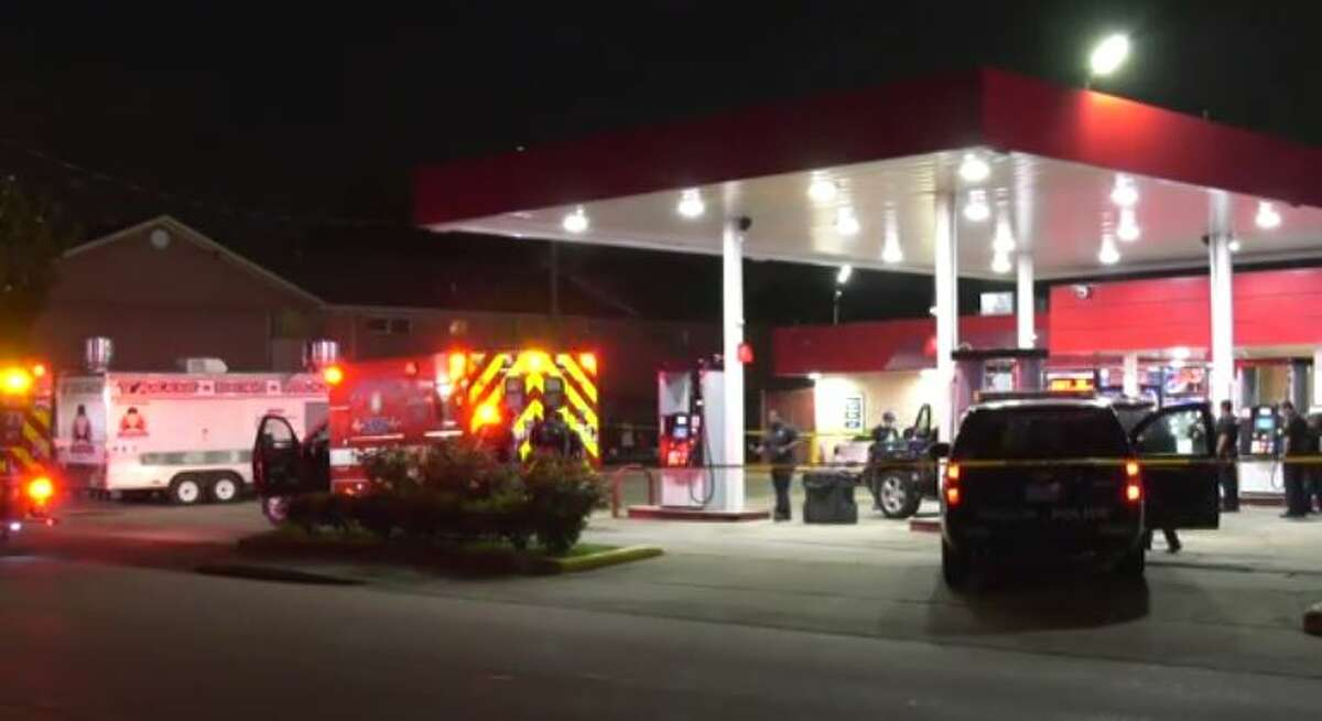 Police investigating a fatal shooting at a southwest Houston gas station on Tuesday night.