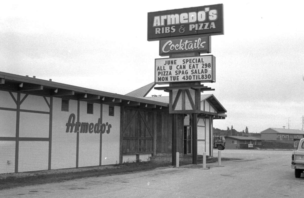 A view of Armedo's restaurant in early June of 1981. Armedo's was formerly located in Filer Township. (Manistee County Historical Museum photo)