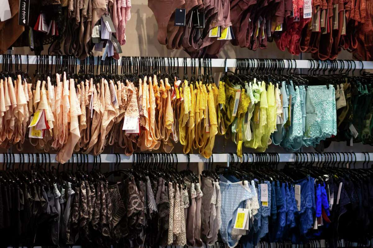 Undergarments in every color line the walls at Top Drawer Lingerie in Uptown Park on Thursday, June 3, 2021.