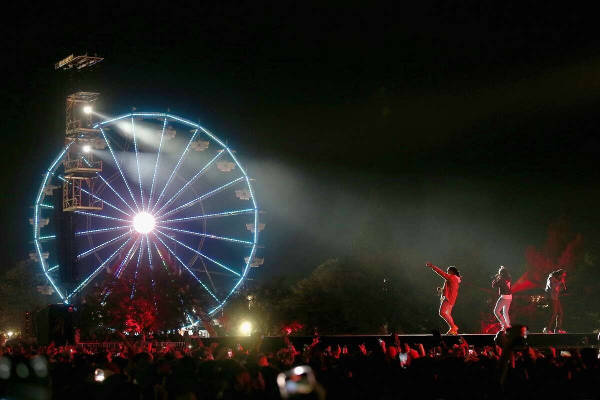 (L - R) Offset, Quavo and Takeoff of Migos perform in concert during the second annual Astroworld Festival at NRG Park on November 9, 2019 in Houston, Texas. (Photo by Gary Miller/Getty Images)