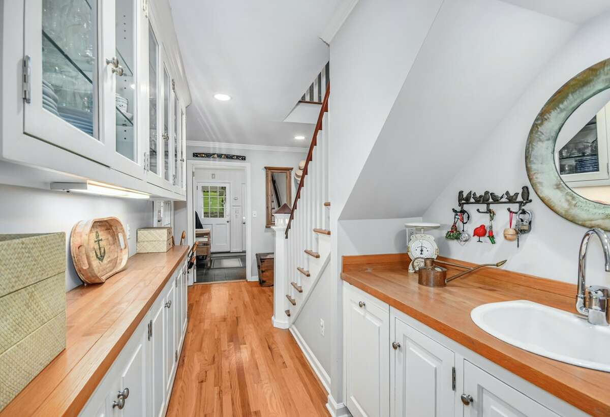 The 123 Long Neck Point Road home in Darien, Conn. has a butler's pantry in addition to its main kitchen.