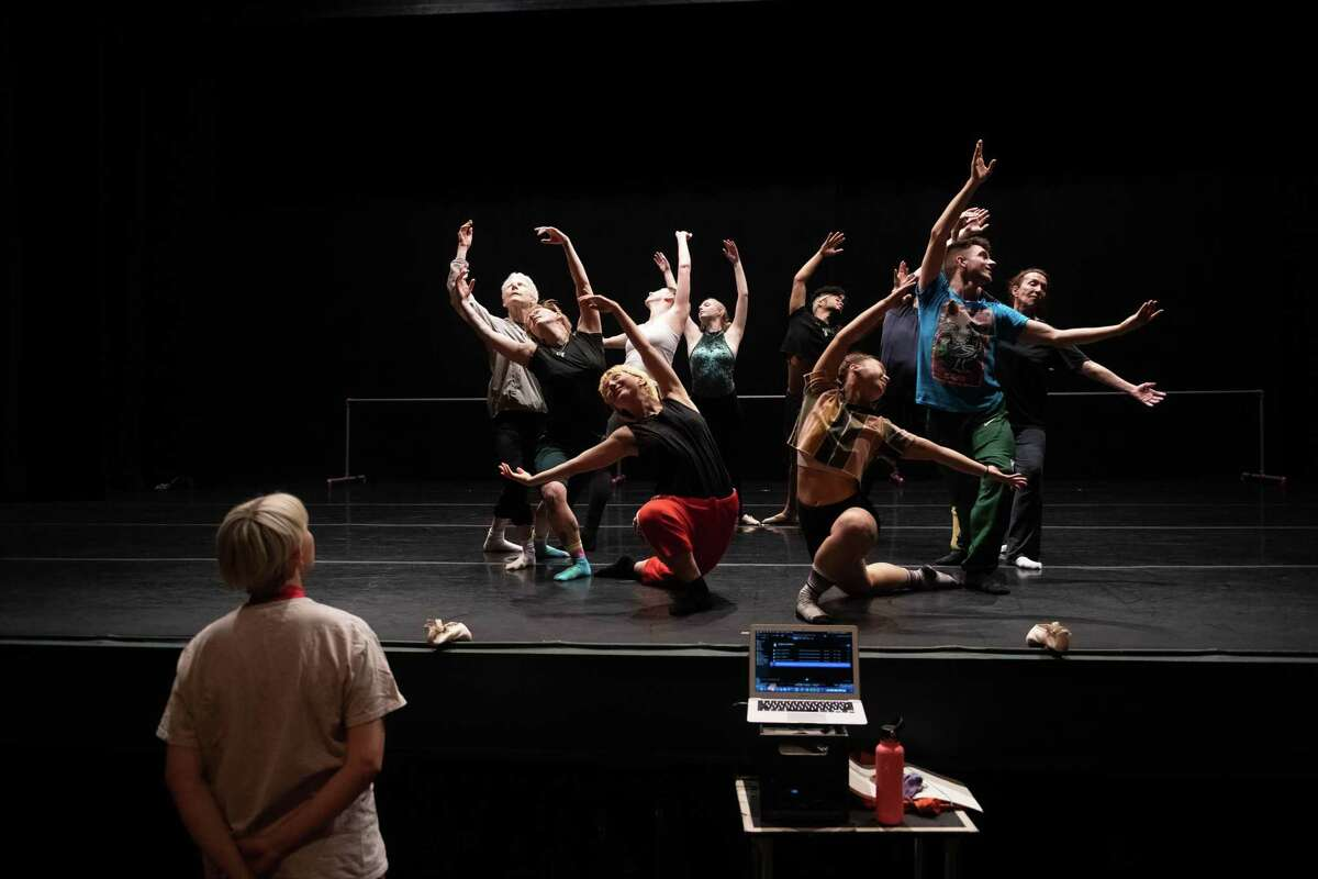 """Dancers with the New York-based troupe Ballez in rehearsal for """"Giselle of Loneliness"""" at the Joyce Theater in late May."""