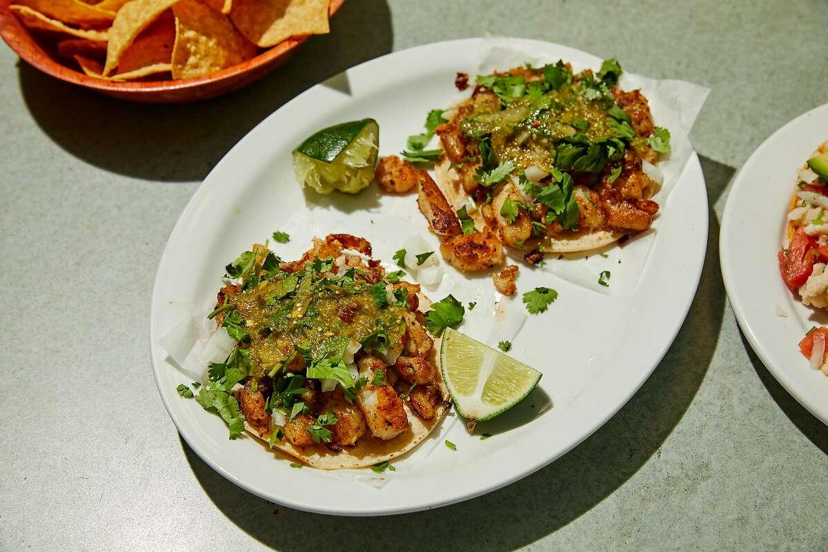Fish tacos at Taqueria San Bruno in San Bruno, California, on Tuesday, June 8, 2021.