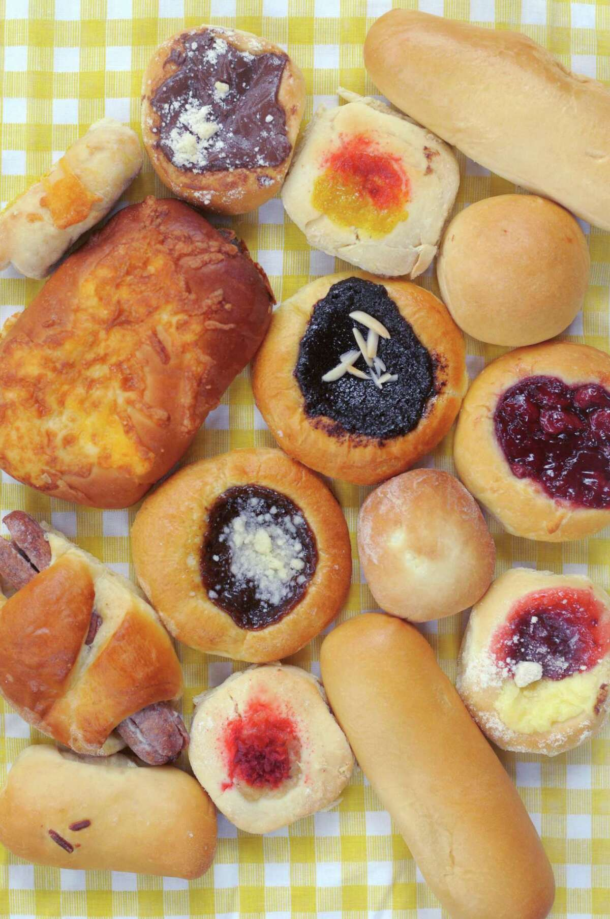 Kolaches come in all shapes and sizes with a wide range of fillings in South Texas.